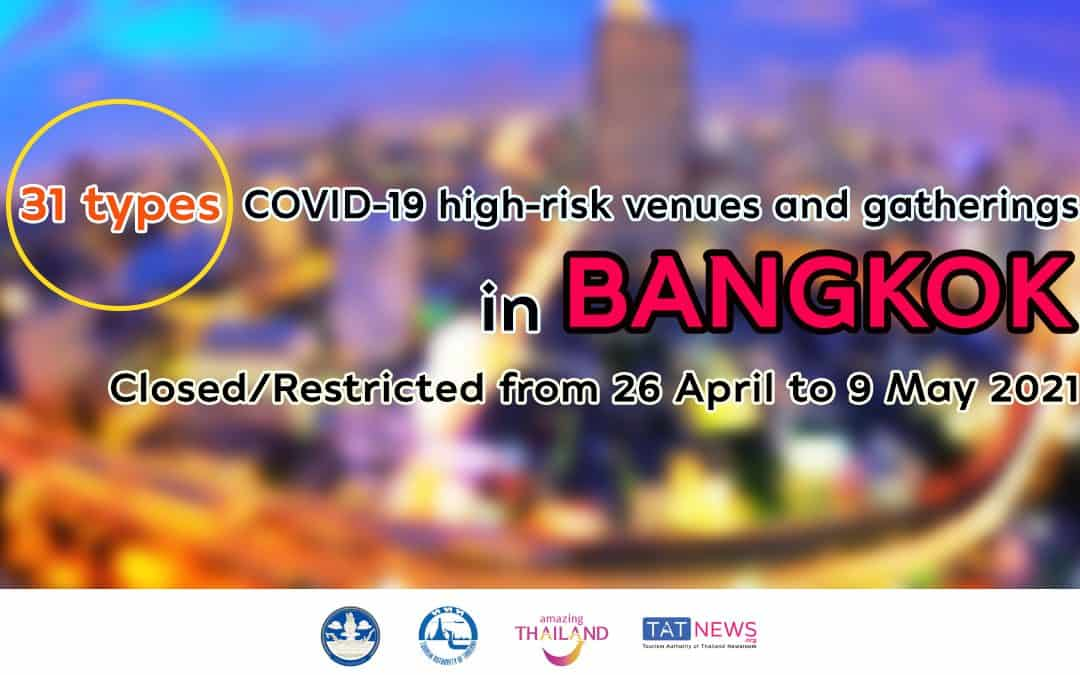 Bangkok imposes 2-week restrictions on COVID-19 high-risk venues